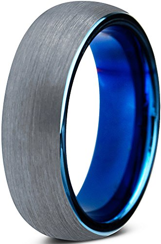tungsten-wedding-band-ring-6mm-for-men-women-comfort-fit-blue-round-domed-brushed-lifetime-guarantee