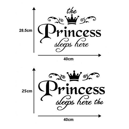 Princess Princess Wandaufkleber Geschnitzt Europäische Und Amerikanische Gerüchte Wandaufkleber Englische Poesie 25 * 40Cm