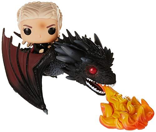 Funko Pop!- Colección Vinilo Rides Game of Thrones Daenerys on Fiery Drogon, Multicolor, única (45338)