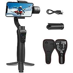 S5 Gimbal pour Stabilisateur Smartphone Stabilisateur de Cardan Extensible Suivi d'objet Mode Horizontal et Vertical Connexion Photo Selfie Focus Tirer & Zoom Capability -Noir