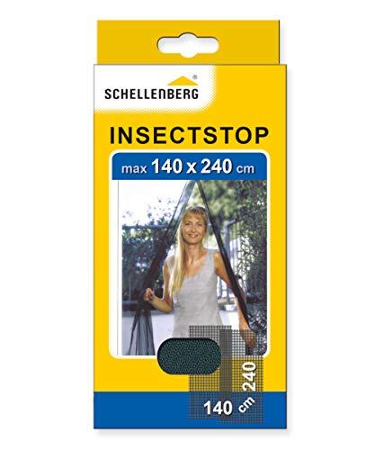 Schellenberg 20509 Mosquitera para Puertas, protección Anti Insectos y Moscas – Antracita (140 x 240 cm), 140x240cm