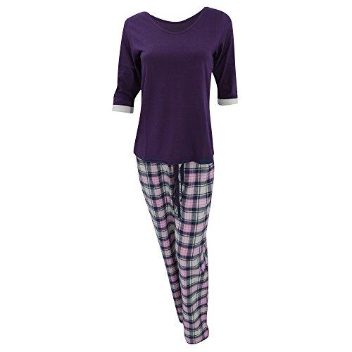 Haut à manches longues et pantalon de pyjama - Femme Violet