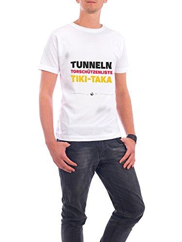 """Design T-Shirt Männer Continental Cotton """"Tunneln"""" - stylisches Shirt Typografie Sport / Fußball von Pia Kolle Weiß"""