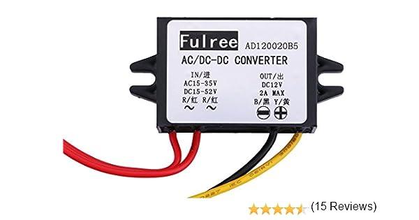 Yeeco AC /à DC Tension Convertir R/égulateur AC 15-35 V DC 15-52 V /à 12 V 2A Puissance Convertisseur surveillance Source de courant D/émissionner Volt Transformateur R/èglement