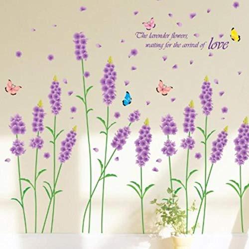 Grün-sofa-satz (Lavendel wandaufkleber grün wohnzimmer schlafzimmer sofa entfernbare wandaufkleber satz größe 50x70 cm)