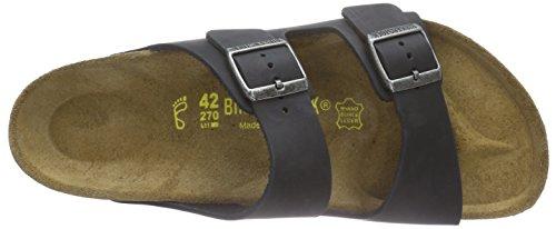 Birkenstock Arizona Leder, Mules mixte adulte Noir - Noir
