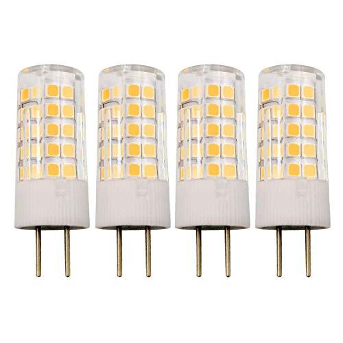 GY6.35 4W LED Lampe G6.35 Bi-Pin Sockel JC Typ AC/DC 12V 3000K Warmweiß 40W T4 GY6.35 Halogen Equivalent, 4er Pack [MEHRWEG] - Bi-pin-halogen-sockel