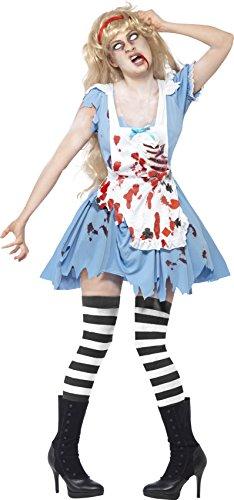 Costume carnevale halloween alice nel paese delle meraviglie zombie sexy donna