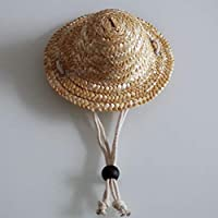 CHANNIKO-UK Summer Fashion Pet Dog Cat Cool Straw Hat Sun Hats Puppy Supplies Hawaii Style Pet Accessories Dogs Cats Caps