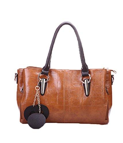 große Leopardenmuster Designer-Handtasche mit Reißverschluss oben und große Griffe durch aimerfeel Dessous (Vordere Öffnen Dessous Die Sie)