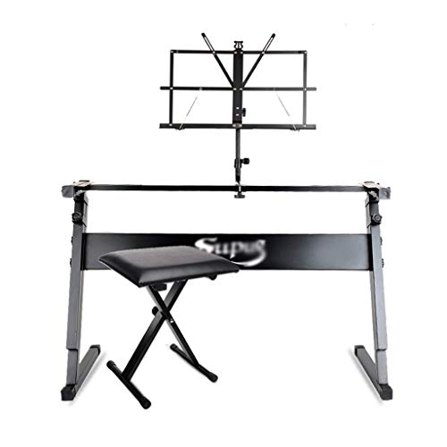 Nai-tripod Faltbare Tastatur-Halter, Band Performance-Test-Schüler Thick Hubhalterung - Kind Elektronische Tastatur Übung Z Typ Startseite Piano Ständer (Color : A, Size : Fits 49/54/61 Key)
