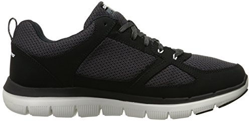 Skechers Flex Advantage 2.0, Sneakers basses homme- Noir (BKW- Black White)