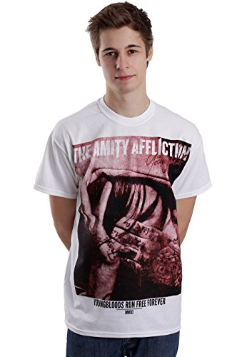 The Amity Affliction - Youn GBL oods Run Free white - T-shirt bianco XL