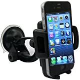 Rheme ONE TOUCH in Car Windscreen Cradle Holder for iPhone 6 / 5s / 5c / 4S / 4 / 3GS Samsung Galaxy Note II S5 /S4 /S3 / Note Epic Touch 4G Nokia Lumia 900 HTC One X EVO 4G Rhyme DROID RAZR BIONIC INCREDIBLE Google Nexus BlackBerry Torch LG Revolution GPS of width 50mm - 83mm 360 Degree Rotation simply fit almost all Phones Samsung Apple HTC Nokia Blackberry Motorola Sony Ericsson LG