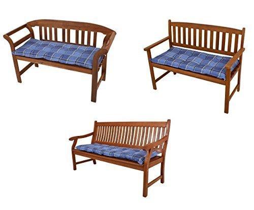 Bankauflage blau-kariert in verschiedenen Größen (Länge 100 cm x Breite 42 cm x Höhe 6 cm)