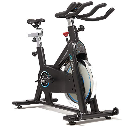41%2Bj6iwO01L. SS500  - JTX Cyclo 6 Exercise Bike - Gym Spec Indoor Bike - 22kg Belt Driven Flywheel - Heart Rate Chest Strap - Adjustable Seat & Handles - 24 Months Warranty - Gym Equipment At Home - Infinity Resistance