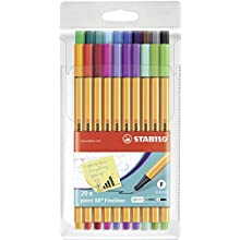 Fineliner - STABILO Point 88 Wallet of 20 Assorted Colours