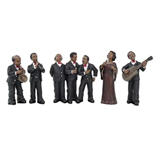 7 PIECE JAZZ BAND STATUE FIGURINE 6-1/2 H, 95073 BY ACK