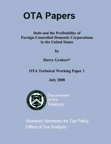 Debt and the Profitability of Foreign-Controlled Domestic Corporations in the United States por Harry Grubert