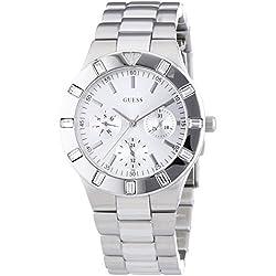 W11610L1 Guess Women's Watch Analogue Quartz Silver Dial Silver Steel Strap