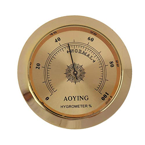 Gitarren-Hygrometer-Feuchtigkeitsmesser-Feuchtigkeits-Monitor-Musikinstrument-Teile Goldenes Vollenden-Schnurgitarren-Teil-Zusätze