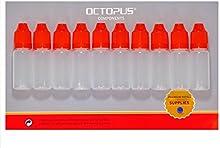 10x 10ml tropffl Ash Dosificar de líquidos, E de Liquids, gota de ojo, LDPE vacías Botellas de plástico transparente, Pipeta botellas con tropfve rojas rschlüssen, con seguro para niños, incluye 10etiquetas etiquetas
