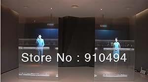 MU film 6 mètre carré Transparent écran holographique (4 couleurs 1m * 1.524m chaque 1 pc) de la publicité vidéo de film holographique des fenêtres en verre