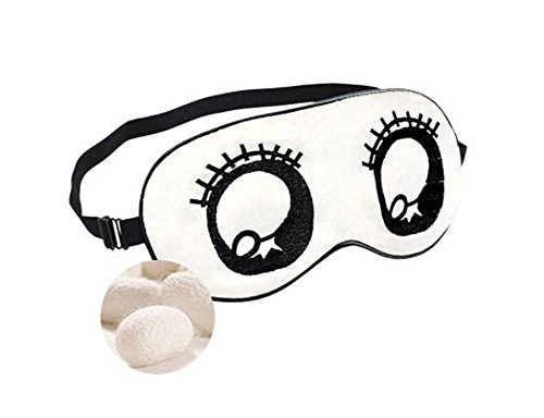 Charmant Double soie cache oeil/cache oeil pour dormir, Blanc