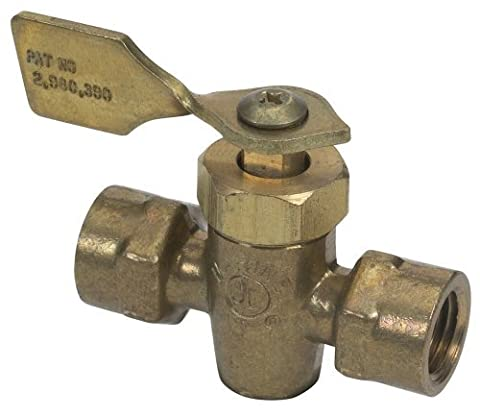 Moeller Fuel Tank Shut-Off Valve (1/4 FNPT, Female/Male, Brass) by Moeller Marine