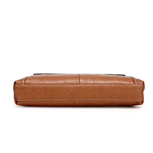 Männer Cross-Computer-Tasche Retro-Stil Aktenkoffer Aktenkoffer Business-Paket Brown5