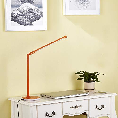 faltbar Nachttisch Leselampe dimmbar Ladekabel Akku Faltlampe in LED Schreibtischlampe dimmbareTouch dimming eye protection led desk lamp, orange