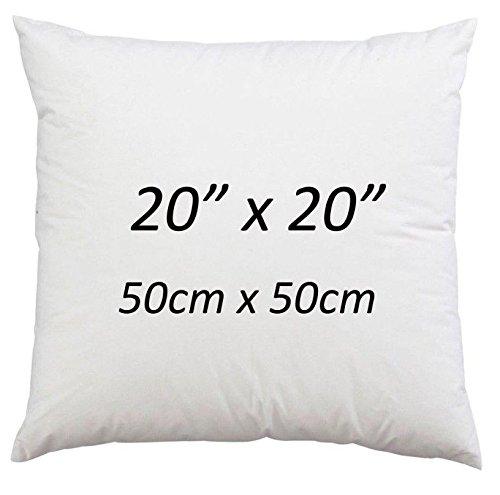 50,8 x 50,8 cm Coussin carré d'anniversaire par Bedway ~ Fibre creuse 50,8 cm pouce Coussin inserts Coussinets non allergique (50 cm x 50 cm) – Lot de 2