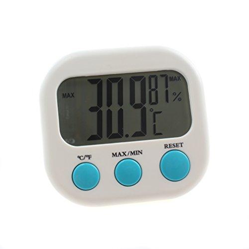 emours Digital LCD Aquarium Thermometer und Hygrometer Sensor Temperatur Reptile Terrarium, mit Saugnapf