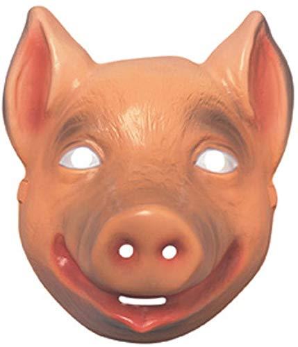 Horror-Shop Rosa Schweinchen Halbmaske für Kinder