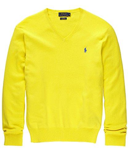 Ralph Lauren Herren V-Neck Pullover in 4 Versch. farben SALE Sonderpreis OVP (XL, Gelb)