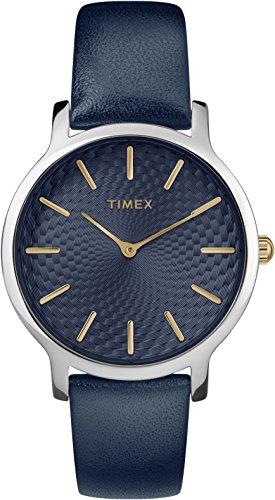 Timex Skyline Orologio Analogico-Digitale Quarzo Donna con Cinturino in Pelle TW2R36300