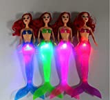 Fuwahahahah Hot Sale Kinder Mädchen Wasserdichte LED-Licht Schwimmpuppe Spielzeug Bad Spa...