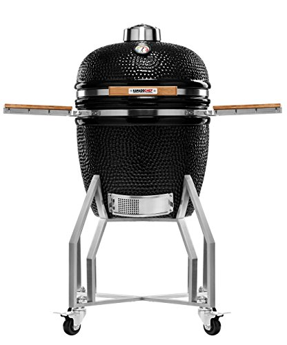 Kamado Chef 1900 Prestige Diamond Black ceramic barbecue grill and smoker for searing, roasting, smoking � The Extraordinary Cooking Experience