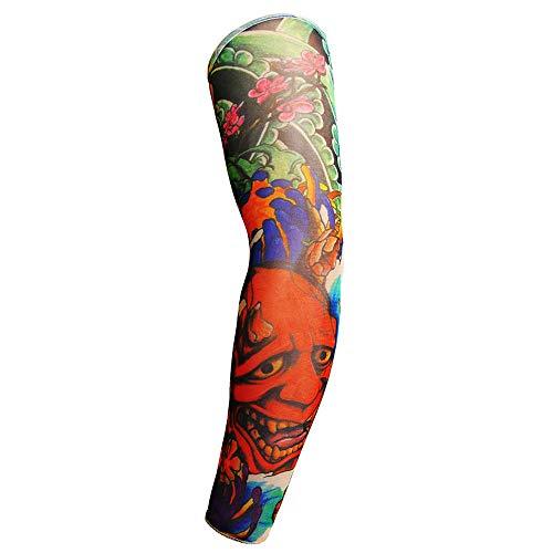 Wangyy 6 Stücke Männer Frauen Sonnencreme Schädel Thema Fake Tattoo Mit Langen Ärmeln Armlinge Multicolor 48 * 8 * 12 Cm