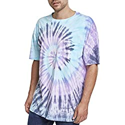 Urban Classics Spiral Tie Dye Pocket Tee T- T-Shirt, Multicolore (NVY/Blue/Purple 01450), M Homme