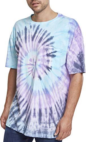 Urban Classics Herren Spiral Tie Dye Pocket Tee T-Shirt, Mehrfarbig (NVY/Blue/Purple 01450), M -