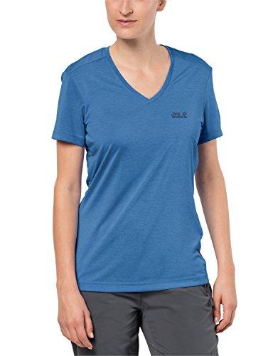 Jack Wolfskin Damen Crosstrail T Women Leicht Atmungsaktiv Funktions Shirt Funktionsshirt, Wave Blue, M