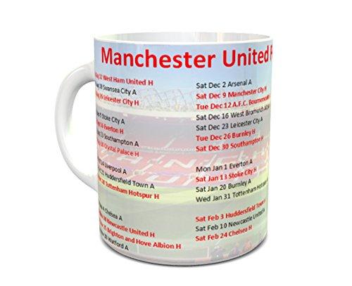 Manchester United 2017/18 Fixture Mug 11oz ceramic mug