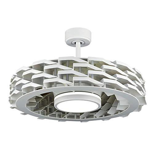 Sulion Ventilador de Techo Rubik - Sin aspas/Motor DC/iFeel/Ultra-silencioso Blanco