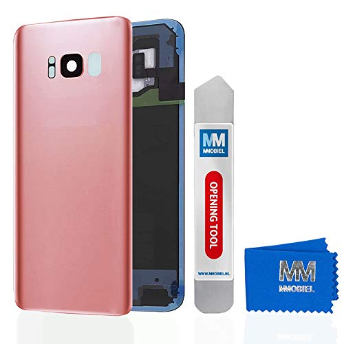 MMOBIEL Backcover Akkudeckel Rück Klappe mit Linse kompatibel mit Samsung Galaxy S8 Plus G955 6.2 Inch (Rose Pink) - Unlocked Att Handys