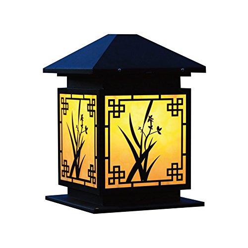 Wasserdichte Garten Lampe, Outdoor Retro Villa Gartenleuchten Säule Lampe Wandleuchte Landschaft Lichter Rasen Licht Einzigen Kopf E27, Hohe 28-42 CM ( größe : 28-22-22CM ) - 28 Einziges Licht