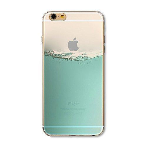 Coque iPhone 7 Housse étui-Case Transparent Liquid Crystal en TPU Silicone Clair,Protection Ultra Mince Premium,Coque Prime pour iPhone 7-Paysage-style 5 5