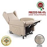Goldflex - Poltrona MOD. Good Relax 2 Motori reclinabile elettrica alzapersona motorizzata per Anziani o Disabili Ruote Piroettanti e Frenanti Maniglione Telecomando IVA4% APPLICATA OBBLIGO Documenti