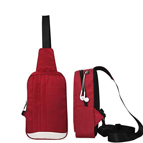 eAnjoy leichte und wasserdichte Sling Bag/Reisetasche für Damen und Herren - langlebig und kompakt Messenger Bag/Schultertasche/Crossbody Bag mit großer Kapazität für Wandern und Radfahren, rot