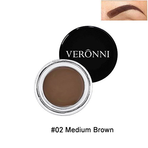 8 Couleurs Gel a Sourcils Creme KISSION Naturelle Impermeable Teinture pour Sourcils Beaute Maquillage